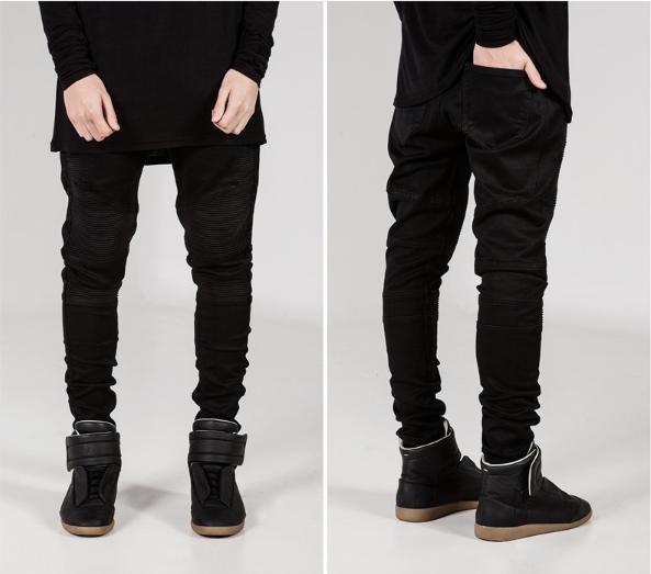 Черные Swag Black джинсы узкачи слимфит  Biker Jeans SlimFit