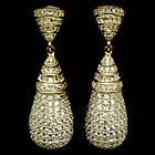 Серебряные позолоченные серьги 925 пробы с кубическим цирконием