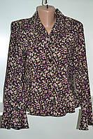 Женская блузка в мелкий цветочек с длинным рукавом, фото 1