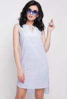 Асимметричное платье в полоску, фото 1