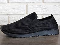 Мужские мокасины спортивные - кроссовки (ПР-3306ч)