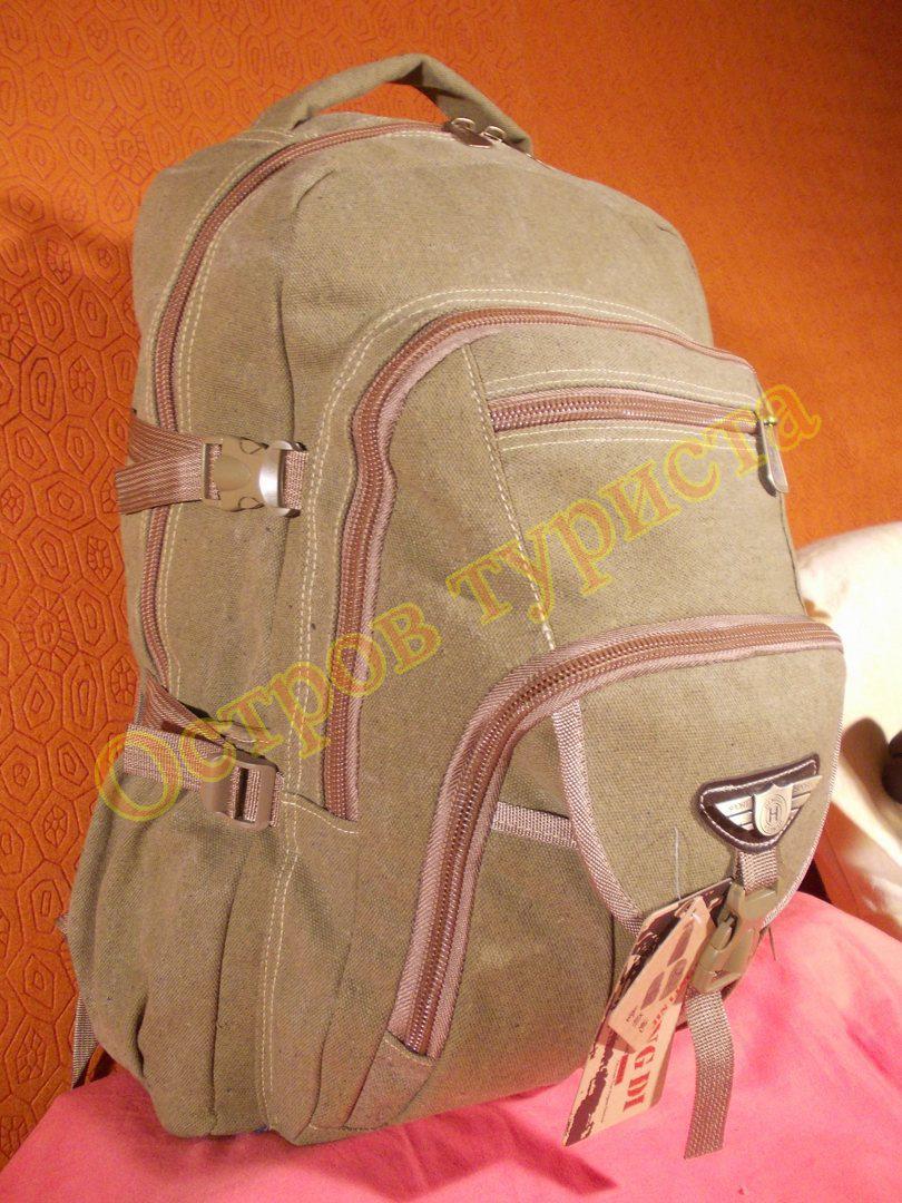 Рюкзак городской спортивный JinLingDi 6692 хаки светлый 40 литров брезент