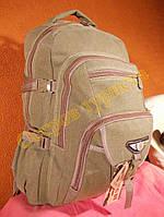 Рюкзак городской спортивный JinLingDi 6692 хаки светлый 40 литров брезент, фото 1