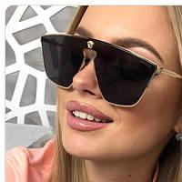 VERSACE очки женские, солнцезащитные очки,цвет чёрный , фото 1