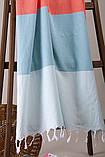 Полотенце-пештемаль пляжное Block 95х165 голубой Barine, фото 3