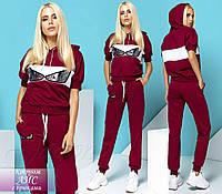 Спортивный костюм Айс бордовый