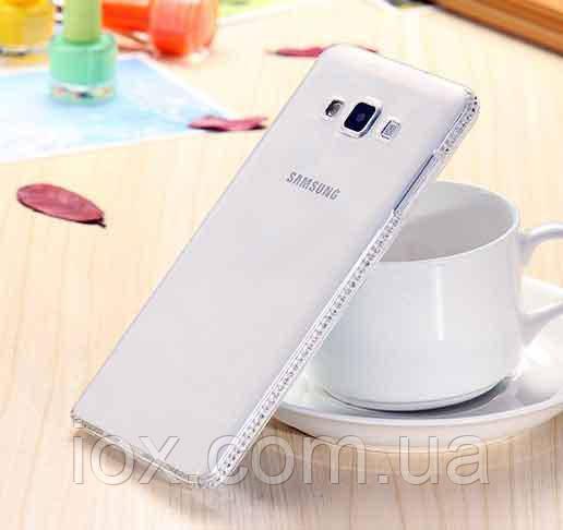 Cиликоновый чехол со стразами Swarovski для Samsung Galaxy A5 2015