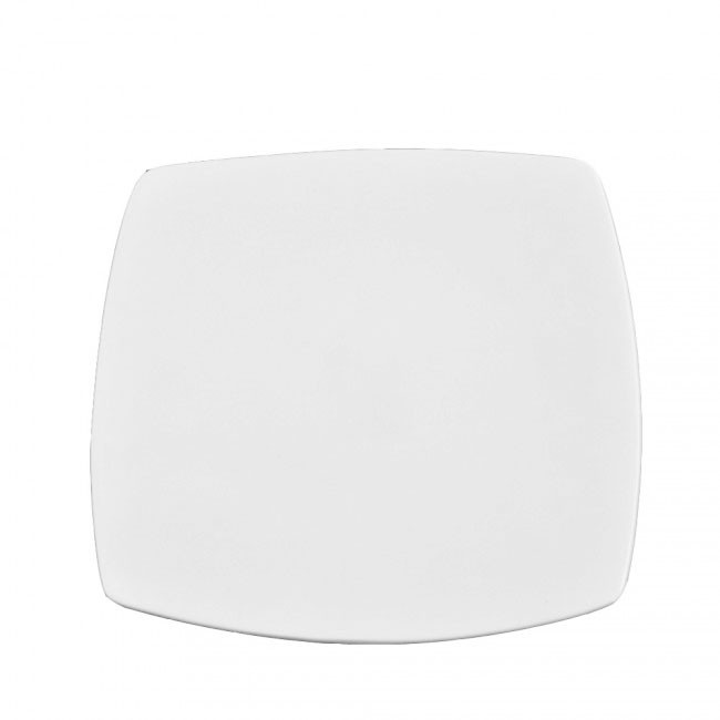 Тарелка фарфоровая квадратная мелкая 220*220 мм.