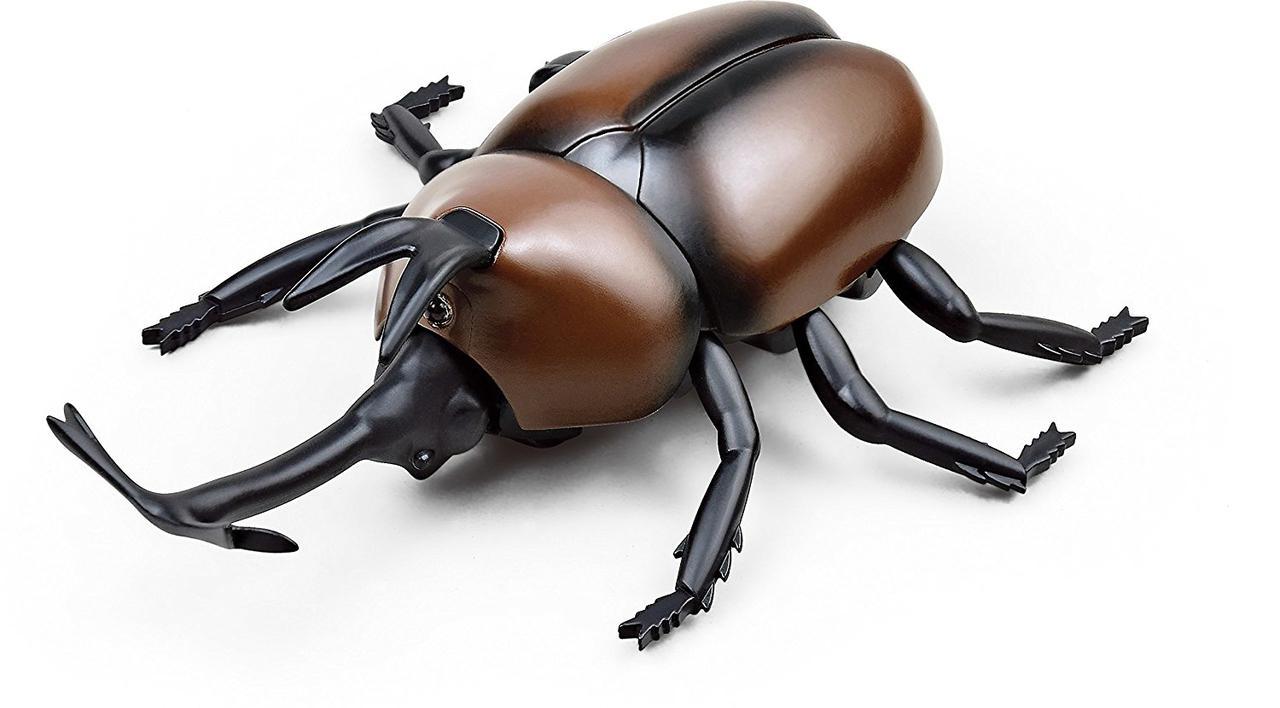 Радиоуправляемая игрушка SUNROZ Beetle игрушечный Жук-Геркулес на р/у Коричневый (SUN0891)