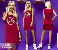 Платье Карнелия винный / стальной / марсала , фото 1