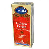 Черный байховый чай Twistea Golden Ceylon (Золотой Цейлон) в пакетиках 25*2г