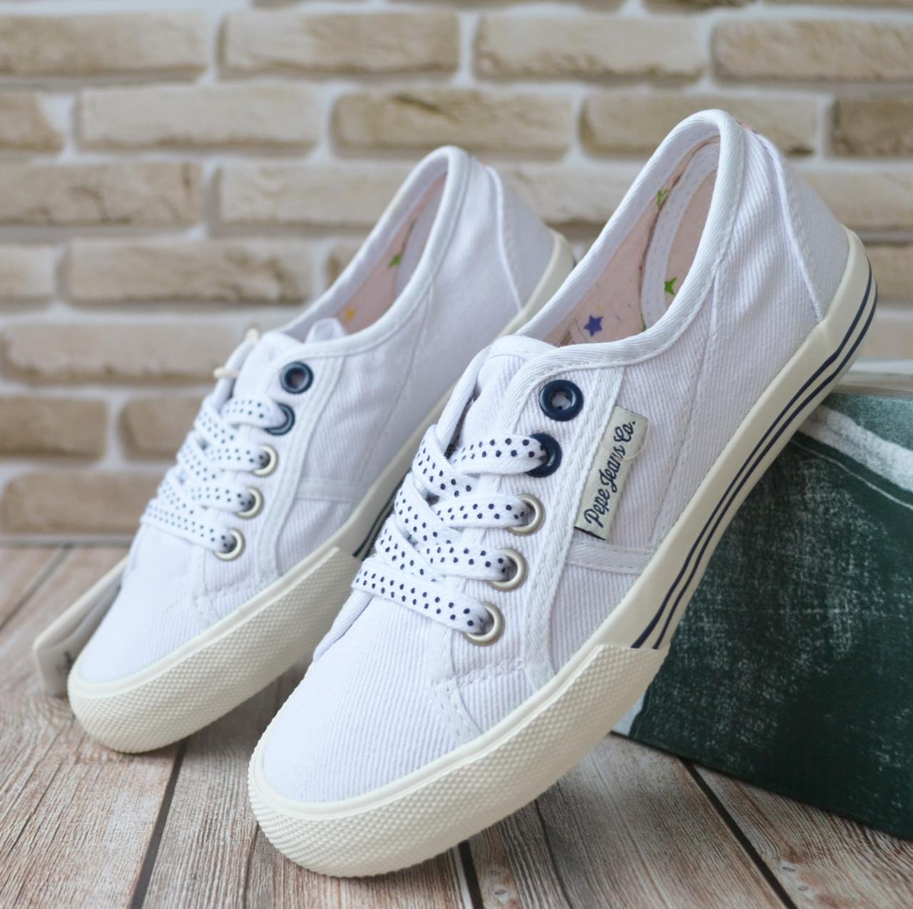 2033a740f Легкие текстильные кеды для девочки от бренда Pepe Jeans, р32.Фирменные  кеды. брендовая обувь
