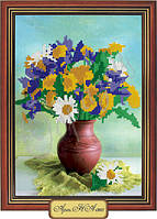 Схема для вышивки бисером «Полевые цветы в вазе»