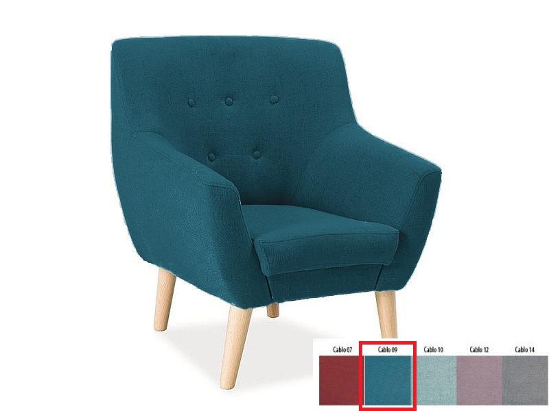 Кресло Nordic 1 синий Signal ткань Cablo09