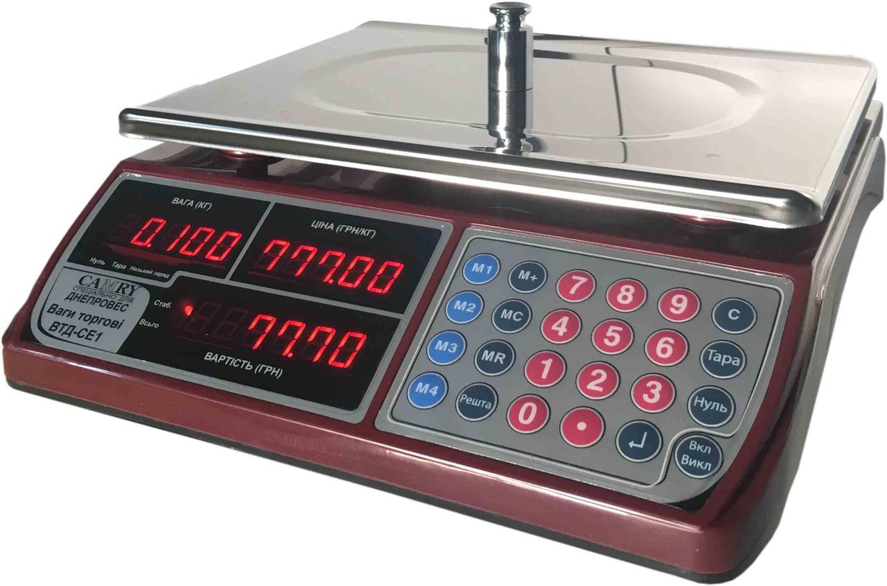Весы торговые Camry ВТД-СЕ1 (15 кг)