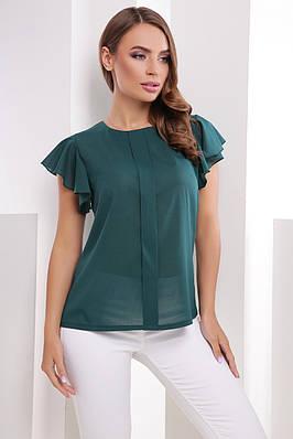 0c6cd926cb47 Летняя женская блузка с крылышками из креп-шифона