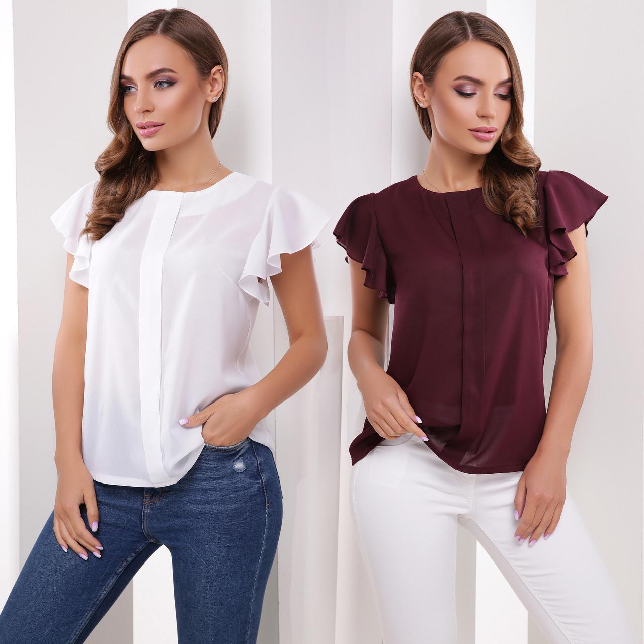 aba568b3c41 Купить Летняя женская блузка с крылышками из креп-шифона по лучшей ...
