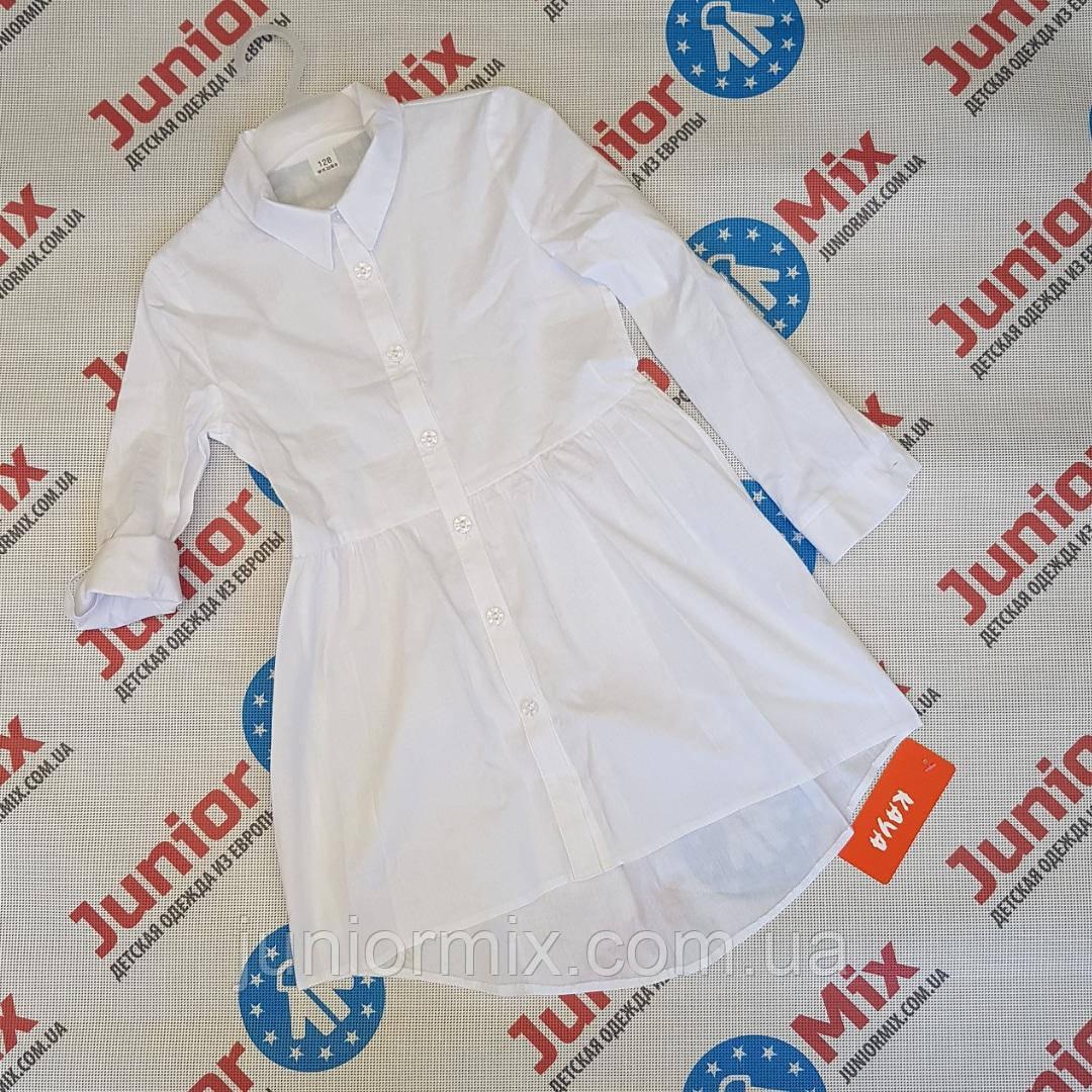 Детская школьная удленёная блузка для девочек оптом  KAYA