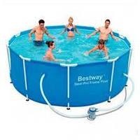 Каркасный бассейн  BestWay 56418 366 х100 см с фильтр-насосом и лестницей