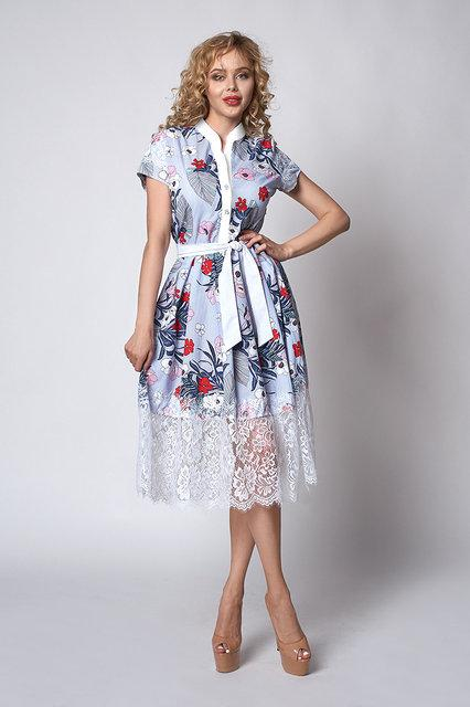 Женское летнее  платье за колено. Размеры 44, 46, 48, 50
