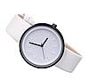 Часы наручные с круглым циферблатом белые, фото 2