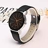 Часы наручные женские черные с граненным стеклом, фото 2