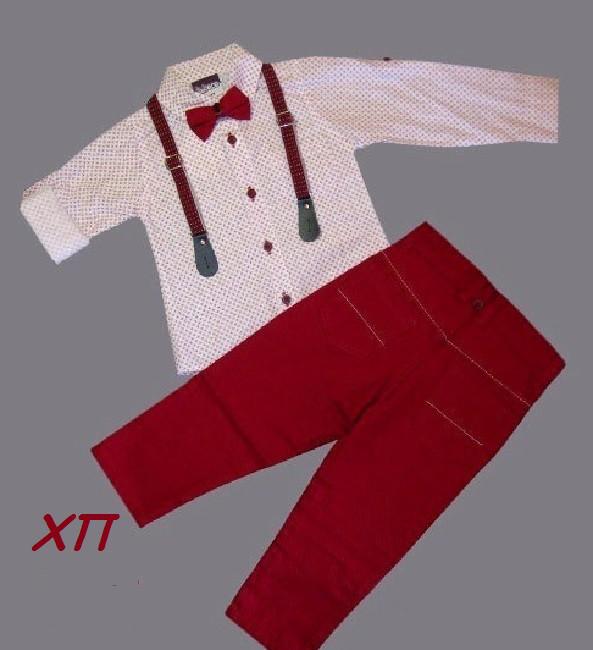 Нарядный костюм для мальчика с бабочкой и подтяжками Турция р. 5