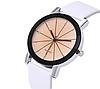 Часы наручные женские белые с граненным стеклом, фото 2