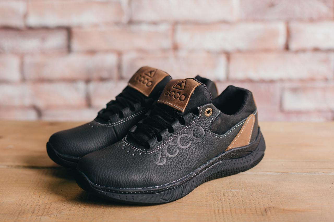 Подростковые кожаные кроссовки Ecco Черные 10703