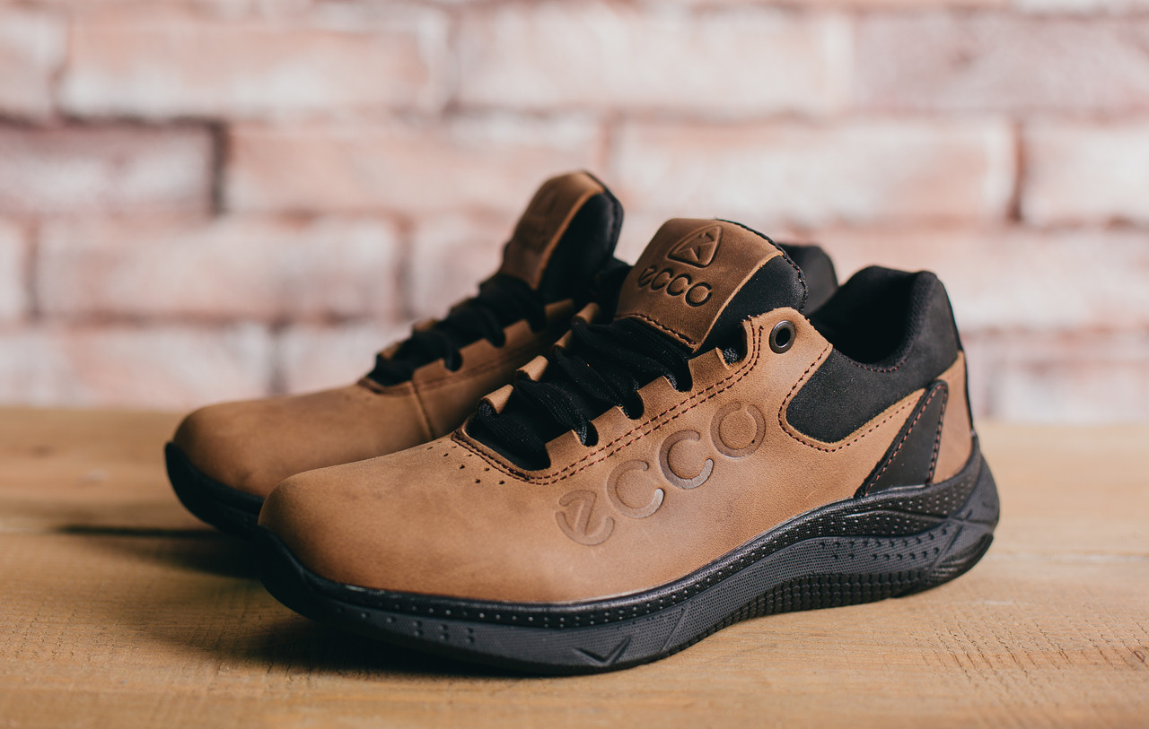 Подростковые кожаные кроссовки Ecco Оливковые 10704