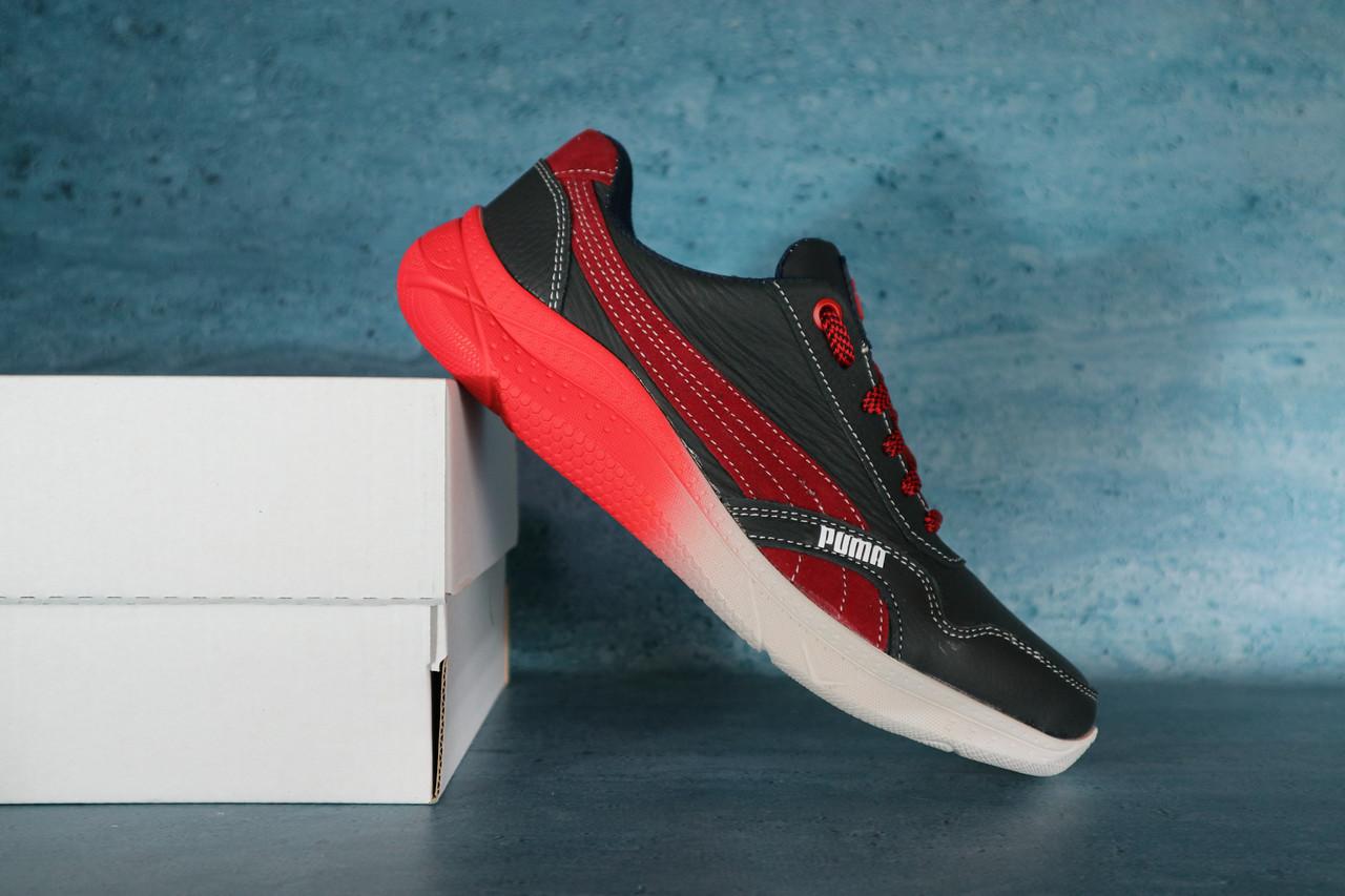 Мужские кроссовки Puma 10722 Черный/Красный