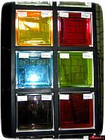 Стеклоблок бронзовый гладкий Brilly 1908\C - Чехия