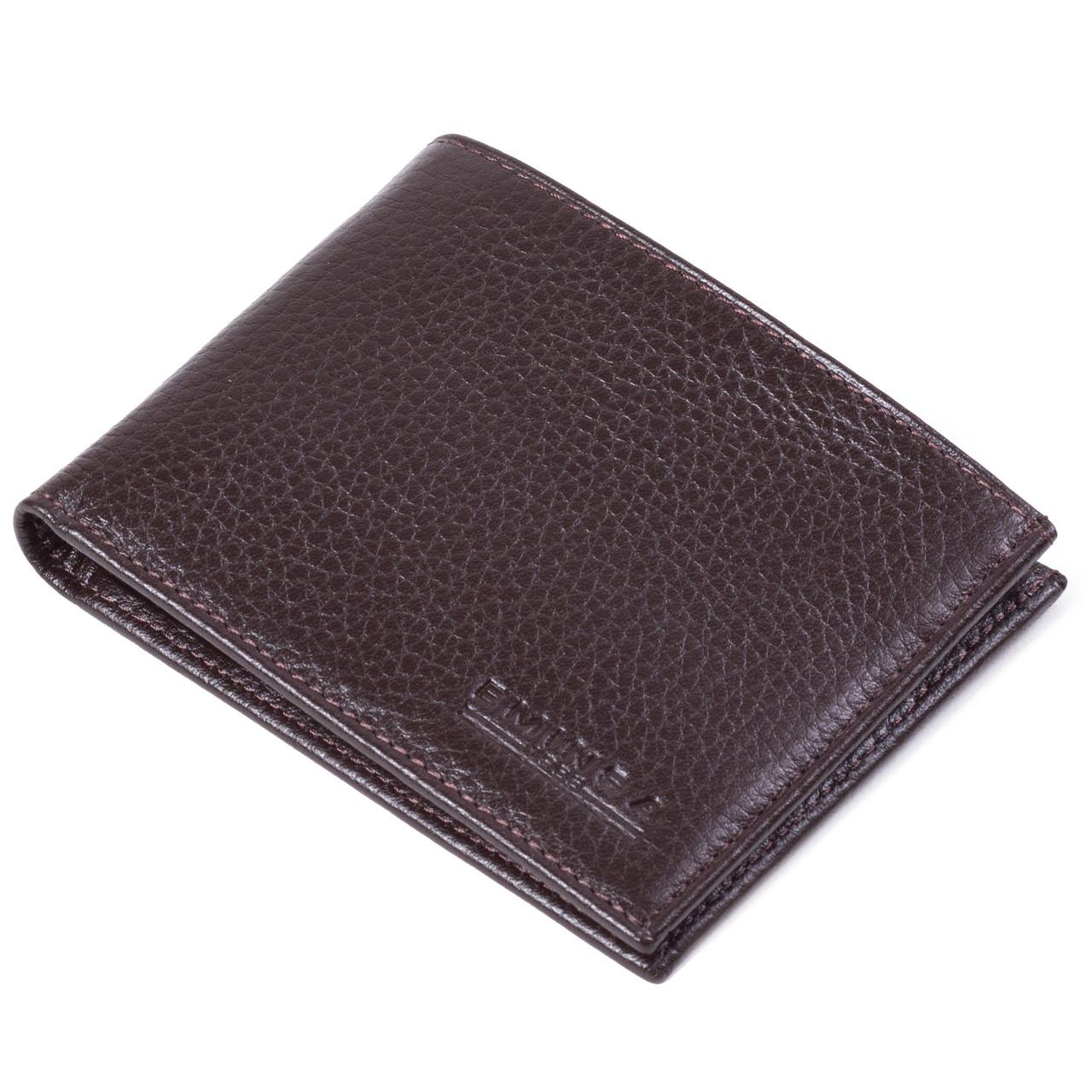 Мужской кошелек кожаный коричневый Eminsa 1051-37-3