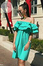 Платье летнее с воланами на плечи, фото 2