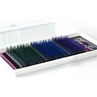 Ресницы омбре Viva Lash с цветными кончиками 20 линий