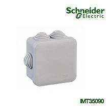 Коробка распределительная Schneider Electric 70x70x40 квадратная 6 вводов для открытого монтажа
