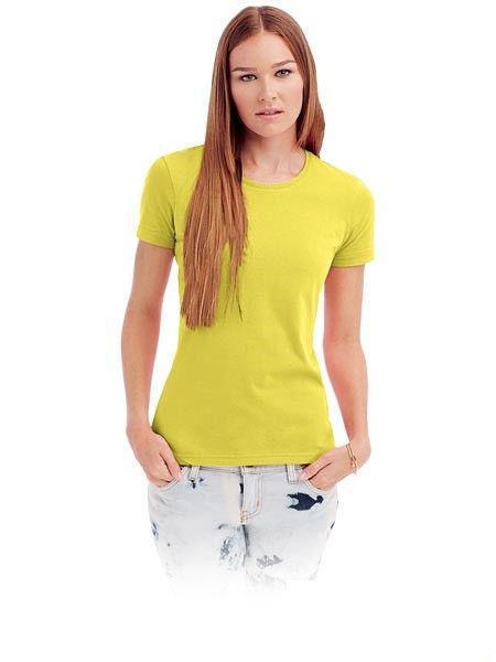 Женская классическая футболка под нанесение логотипа.