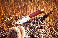 Нож нескладной (рукоять-дерево) для активного отдыха.