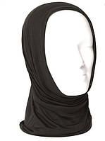 Многофункциональная трикотажная повязка-бафф  Mil-Tec однотонная черного цвета, фото 1