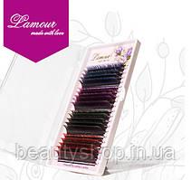 Вії з кольоровими кінчиками Lamour Smix 20 ліній, Лямур
