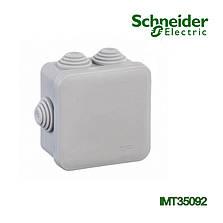 Коробка распределительная Schneider Electric 85x85x40 квадратная 6 вводов для открытого монтажа IP55, фото 2