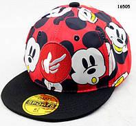 Кепка Mickey Mouse с прямым козырьком для мальчика. 52-54 см, фото 1