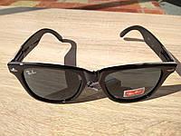 Солнцезащитные очки Ray Ban Wayfarer (стекло) с стильной дужкой