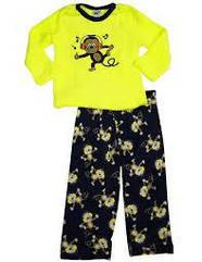 Плюшевый очень тепленький костюм-пижамка с мартышкой (Размер 18 мес) Healthtex (США)
