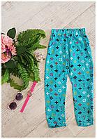 Легкие штапельные штаны для девочки, 5-9 лет