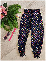 Легкие штапельные штаны для девочки, 5-9 лет, фото 1