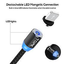 Магнітний Lightning  USB кабель TOPK з підсвіткою для iphone
