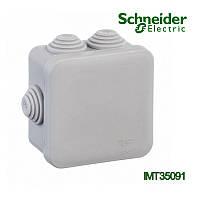Коробка распределительная Schneider Electric 100x100x50 квадратная 6 вводов для открытого монтажа IP55