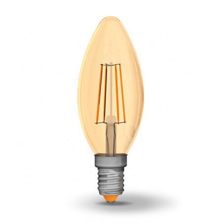 LED лампа светодиодная Filament Videx, E14, 4W (аналог 40W), 2200K (мя