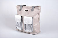 Сумка мешок Carla Berry AV-204 Польша серо-молочная